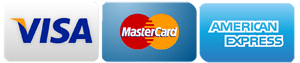 credit cards we accept - Mastercard, Visa, American Express