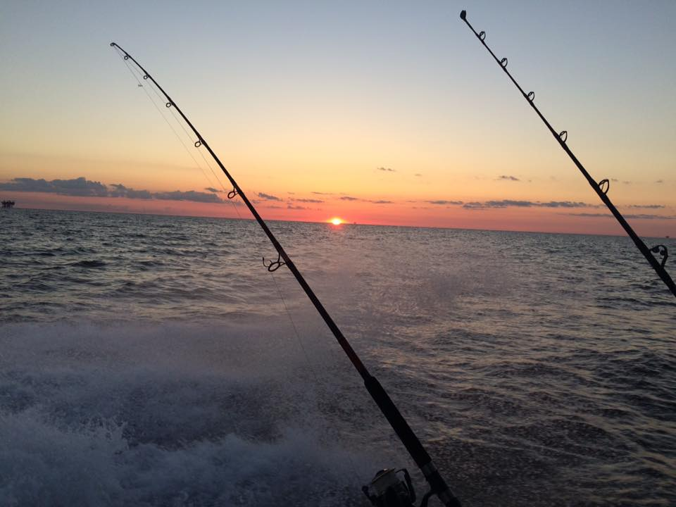 Beautiful sunrise heading out to the prolific fishing grounds in southern Louisiana